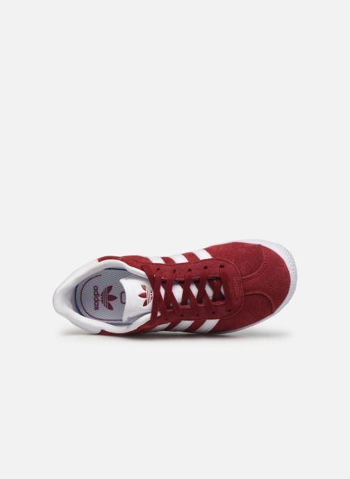 Baskets adidas originals Gazelle C Bordeaux vue gauche