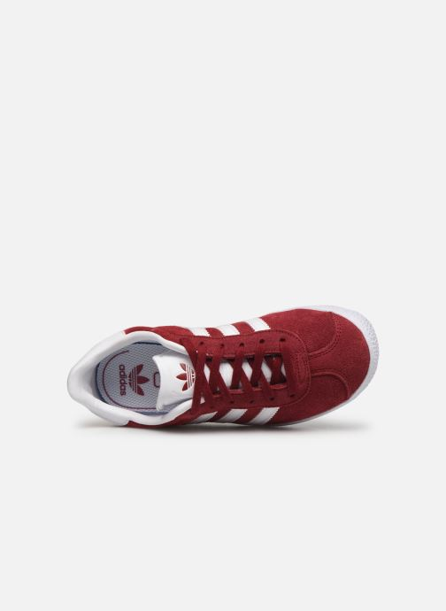 Sneaker adidas originals Gazelle C weinrot ansicht von links