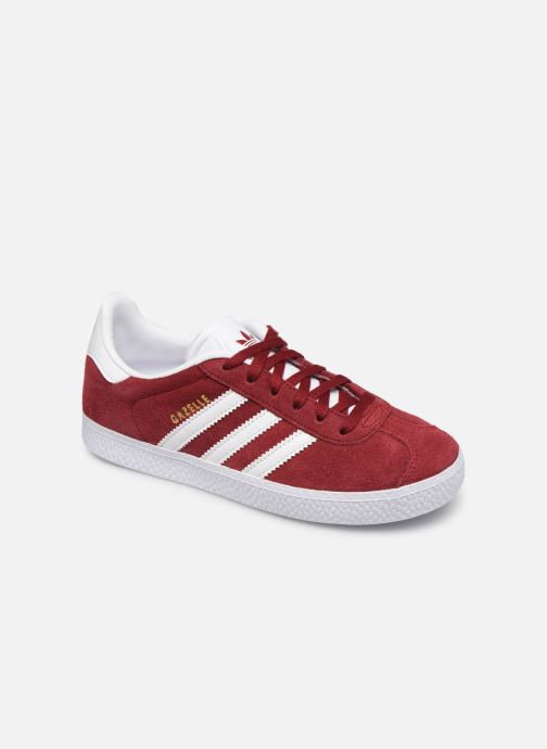 Baskets adidas originals Gazelle C Bordeaux vue détail/paire