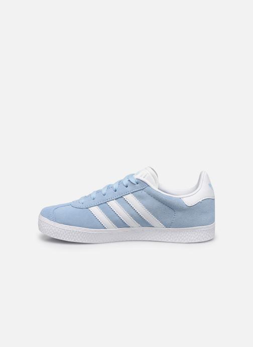 Deportivas adidas originals Gazelle C Azul vista de frente