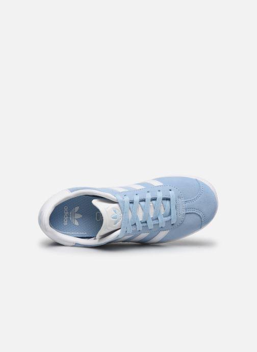 Deportivas adidas originals Gazelle C Azul vista lateral izquierda
