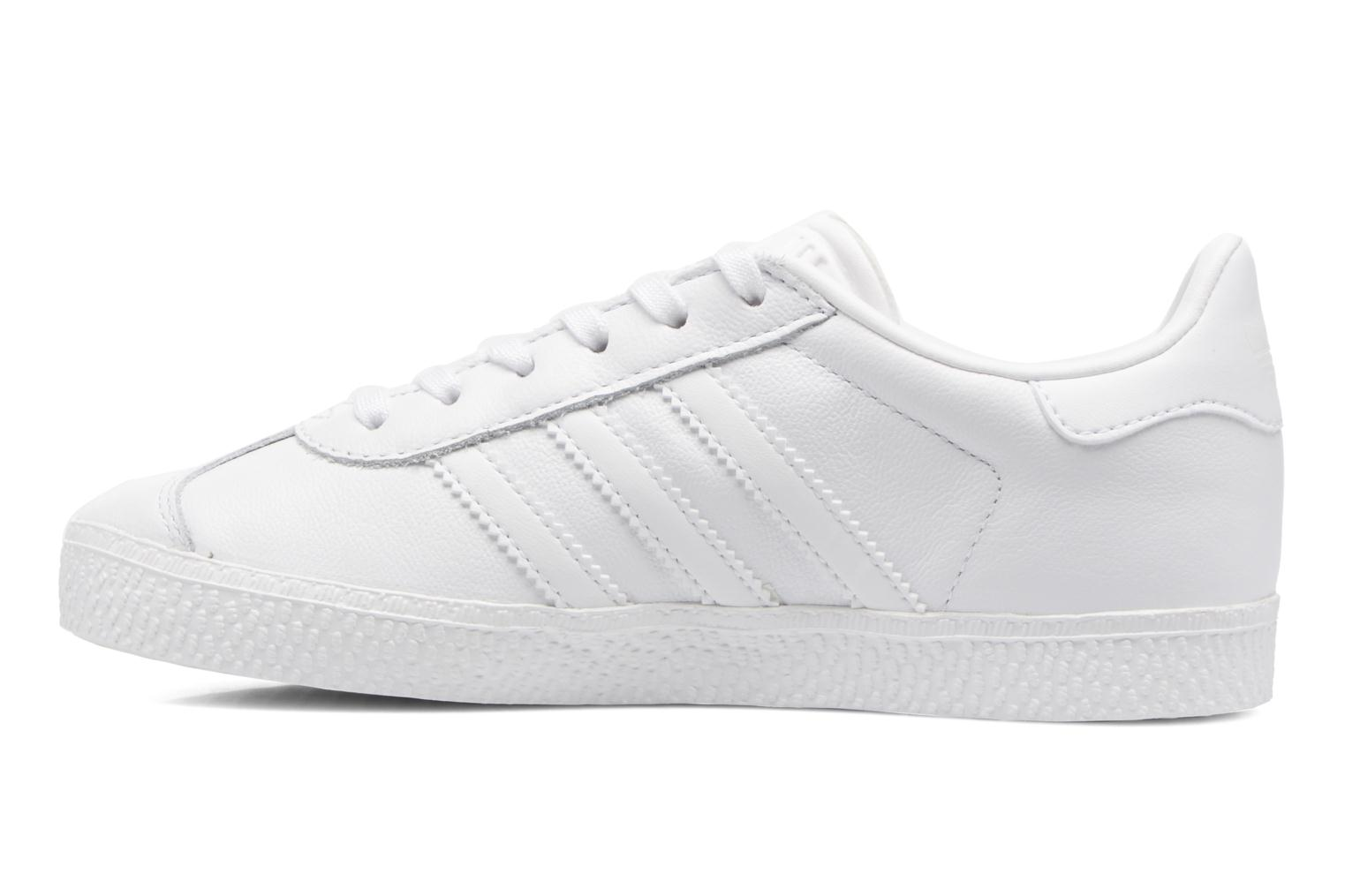 Baskets Adidas Originals Gazelle C Blanc vue face