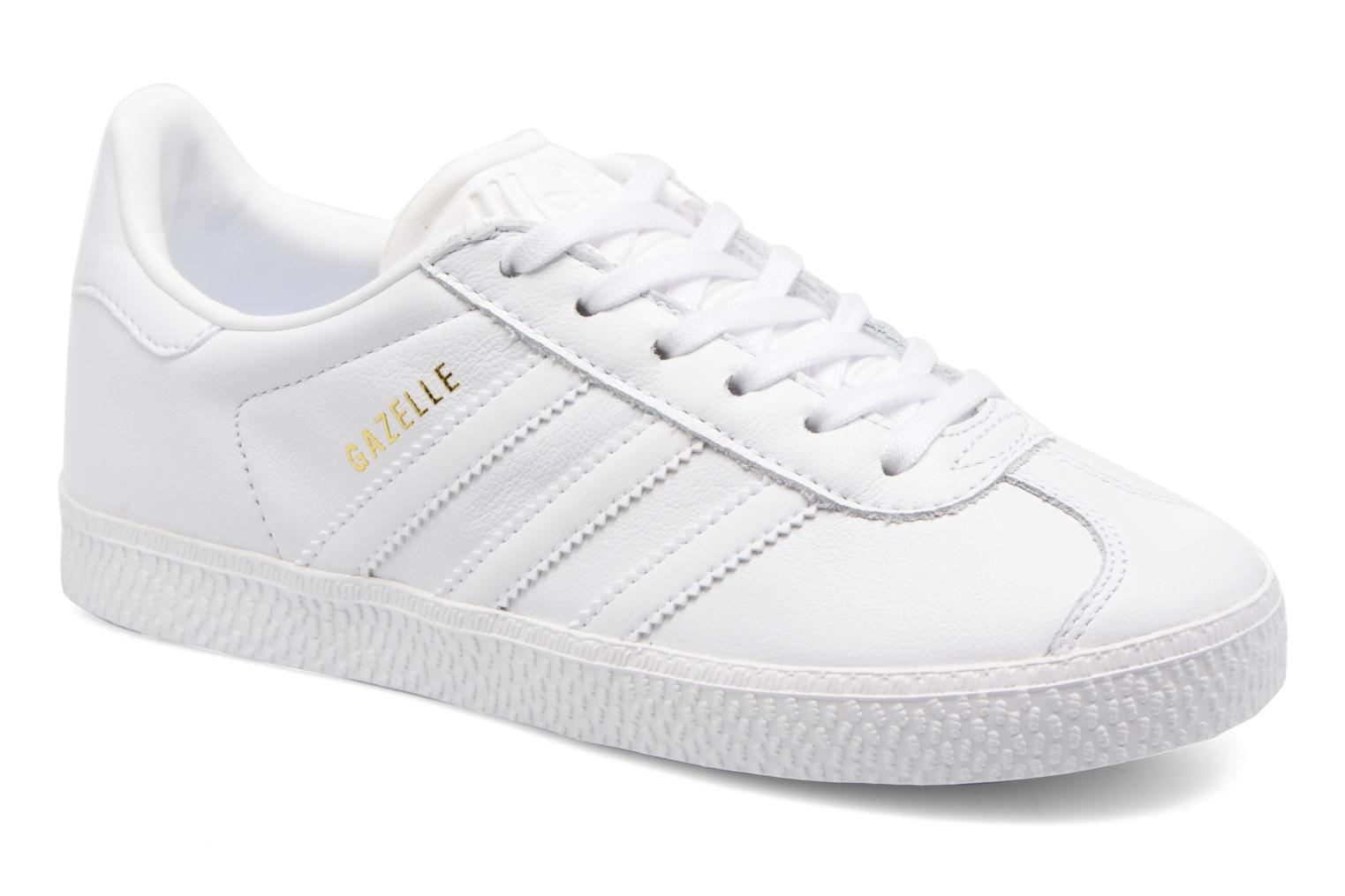 Baskets Adidas Originals Gazelle C Blanc vue détail/paire