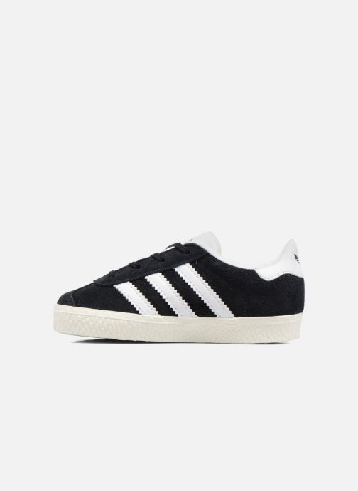 Baskets adidas originals Gazelle I Noir vue face
