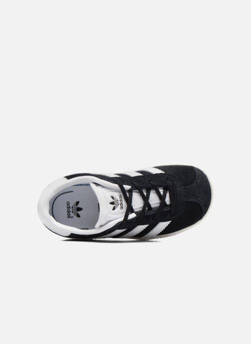 Baskets adidas originals Gazelle I Noir vue gauche