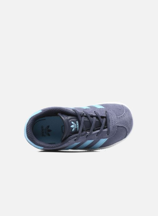 Sneaker Adidas Originals Gazelle I blau ansicht von links
