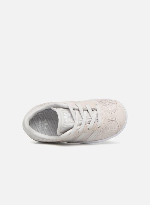 Baskets adidas originals Gazelle I Gris vue gauche