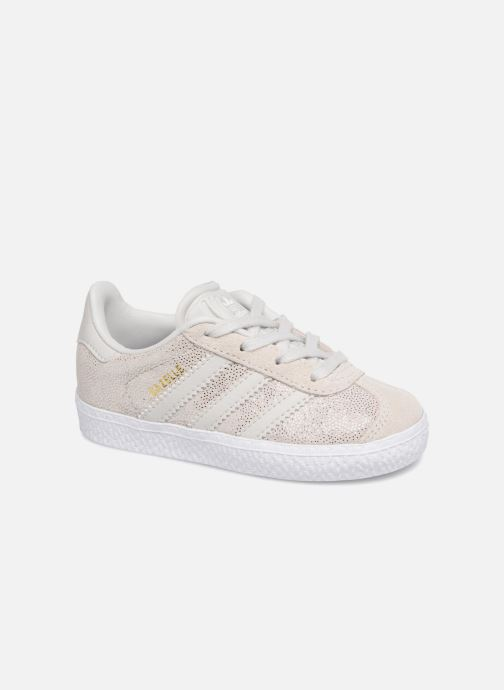 Baskets adidas originals Gazelle I Gris vue détail/paire
