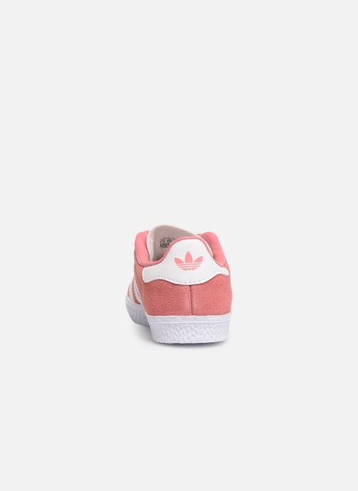 Baskets adidas originals Gazelle I Rose vue droite