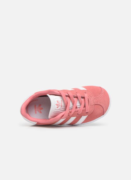 Trainers adidas originals Gazelle I Pink view from the left