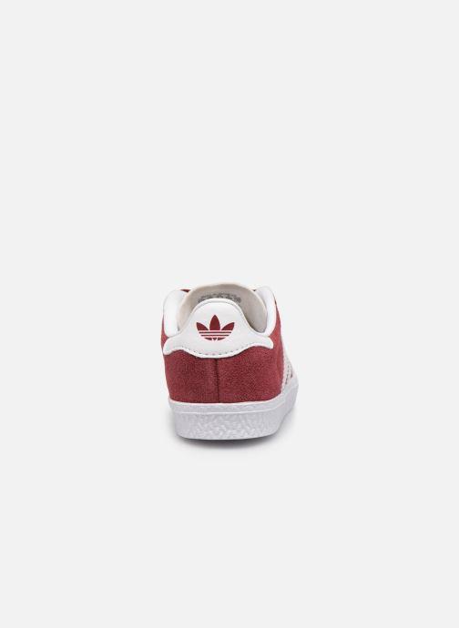 Sneaker adidas originals Gazelle I weinrot ansicht von rechts