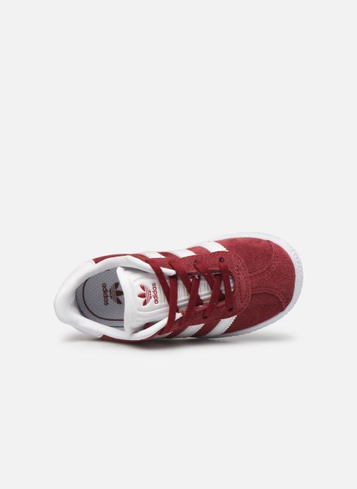 Sneaker adidas originals Gazelle I weinrot ansicht von links