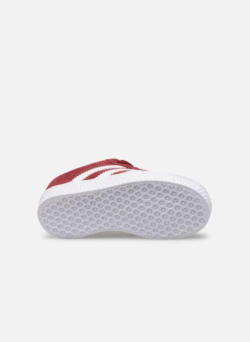 Sneaker adidas originals Gazelle I weinrot ansicht von oben