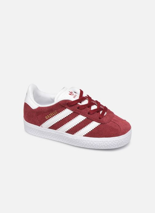 Baskets adidas originals Gazelle I Bordeaux vue détail/paire