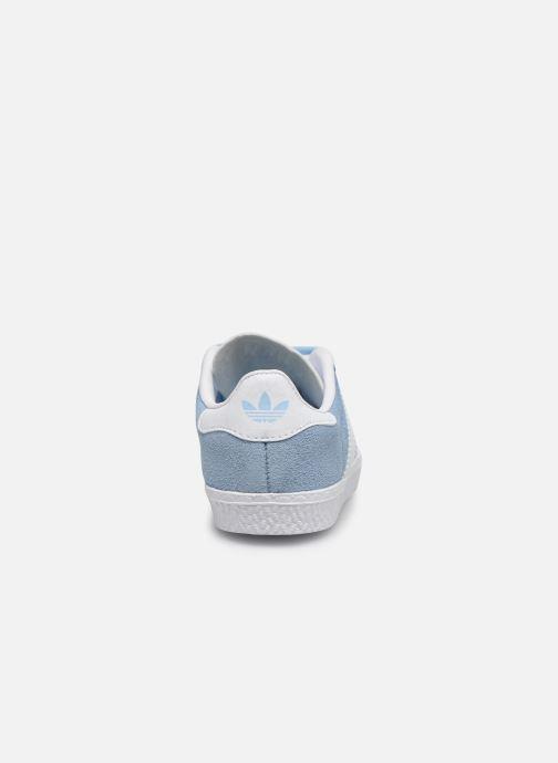 Deportivas adidas originals Gazelle I Azul vista lateral derecha