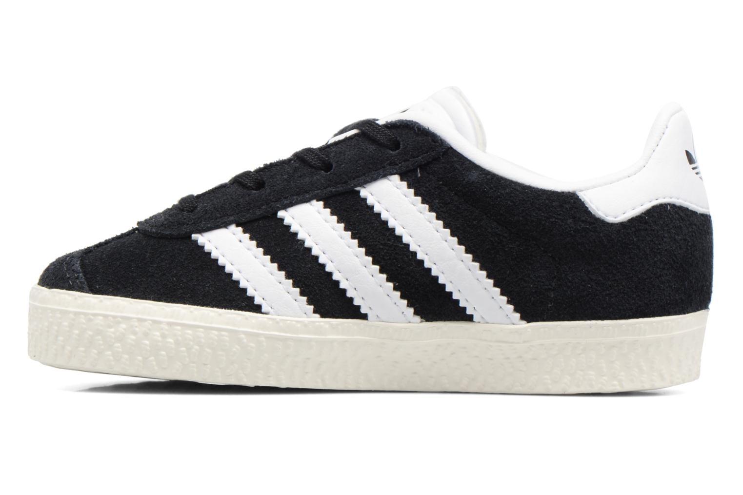 Baskets Adidas Originals Gazelle I Noir vue face