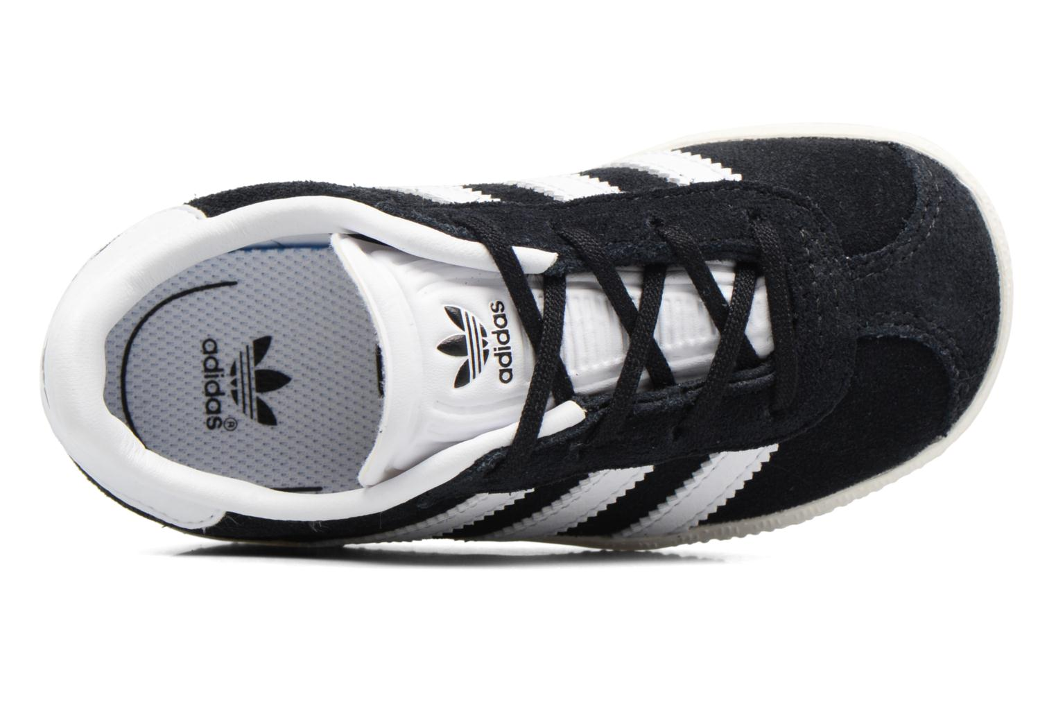 Baskets Adidas Originals Gazelle I Noir vue gauche
