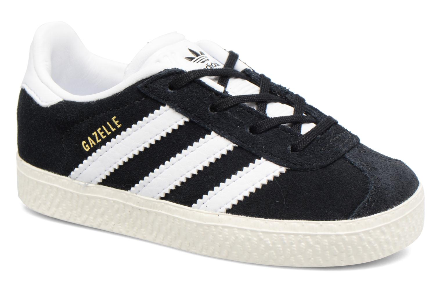 Baskets Adidas Originals Gazelle I Noir vue détail/paire