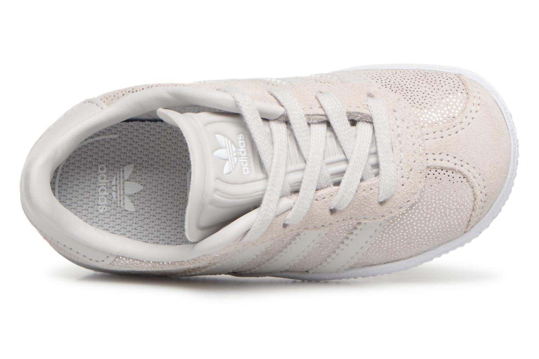 Baskets Adidas Originals Gazelle I Gris vue gauche