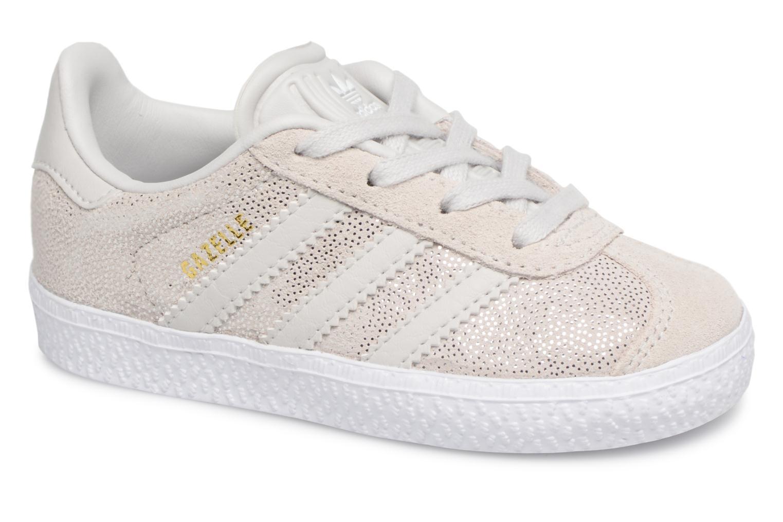 Baskets Adidas Originals Gazelle I Gris vue détail/paire