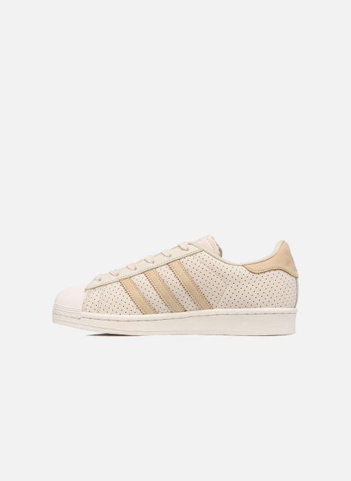 Sneakers adidas originals Superstar Fashion J Beige voorkant