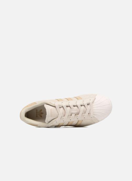 Baskets adidas originals Superstar Fashion J Beige vue gauche