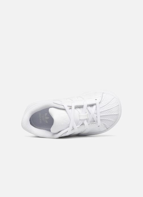 Sneaker adidas originals Superstar I weiß ansicht von links
