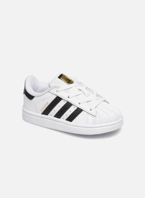 Baskets adidas originals Superstar I Blanc vue détail/paire