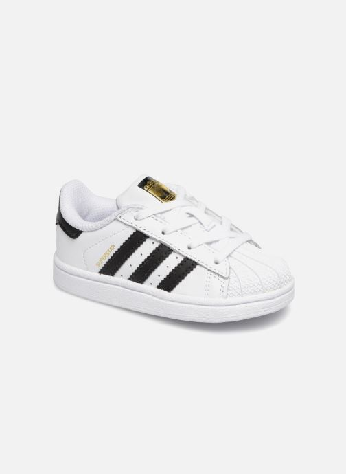 Baskets Adidas Originals Superstar I Blanc vue détail/paire