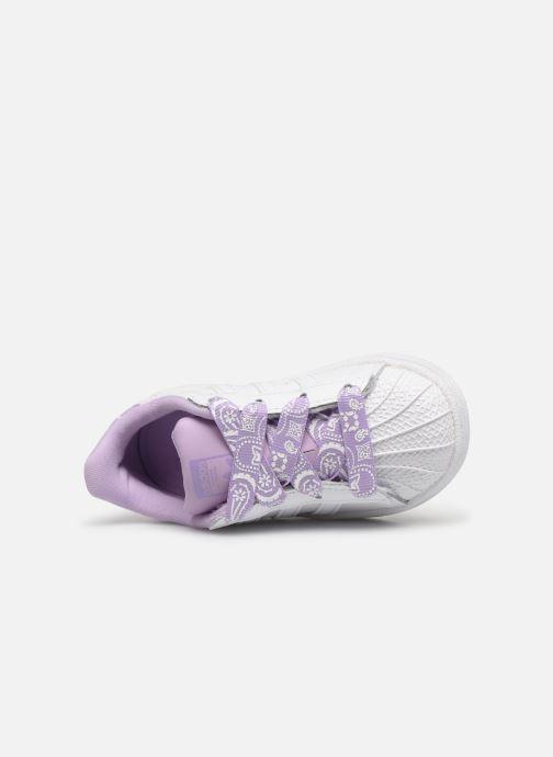 Baskets adidas originals Superstar I Blanc vue gauche