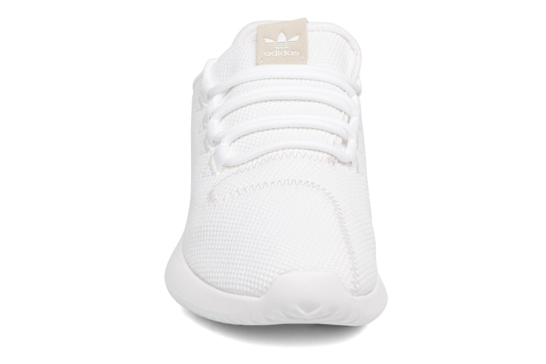 Baskets Adidas Originals Tubular Shadow J Blanc vue portées chaussures
