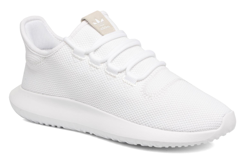 Baskets Adidas Originals Tubular Shadow J Blanc vue détail/paire