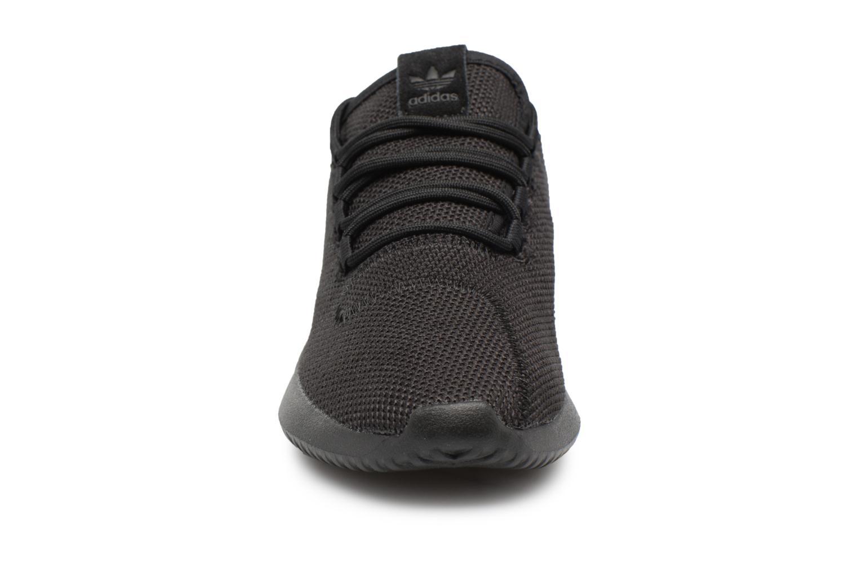 Sneaker Adidas Originals Tubular Shadow J schwarz schuhe getragen