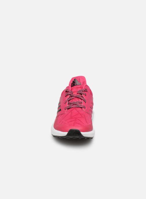 Baskets adidas performance Rapidarun K Rose vue portées chaussures