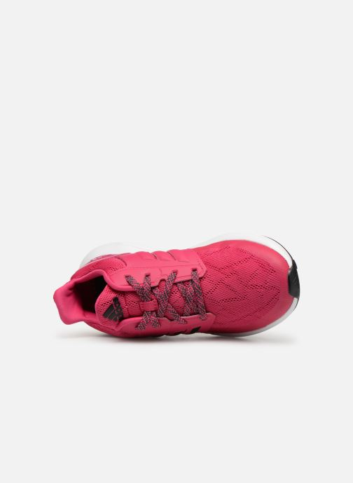 Trainers adidas performance Rapidarun K Pink view from the left