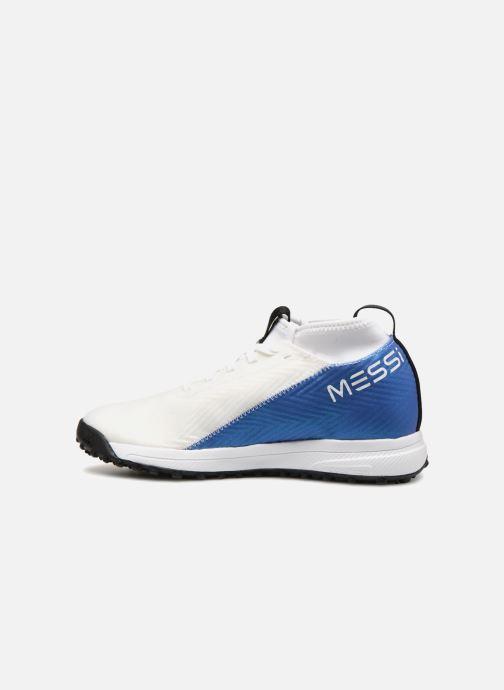 Chaussures de sport adidas performance Rapidaturf Messi K Blanc vue face