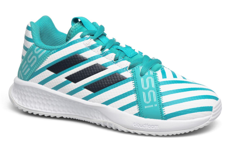 Sportschuhe Adidas Performance Rapidaturf Messi K blau detaillierte ansicht/modell