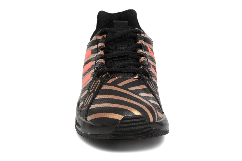 Chaussures de sport Adidas Performance Rapidaturf Messi K Noir vue portées chaussures