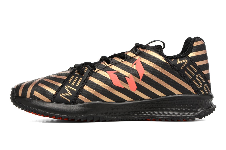 Chaussures de sport Adidas Performance Rapidaturf Messi K Noir vue face