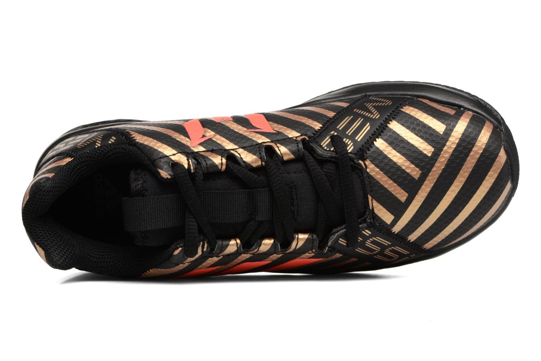 Chaussures de sport Adidas Performance Rapidaturf Messi K Noir vue gauche