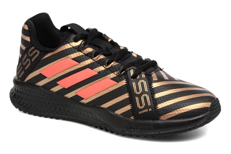 Chaussures de sport Adidas Performance Rapidaturf Messi K Noir vue détail/paire