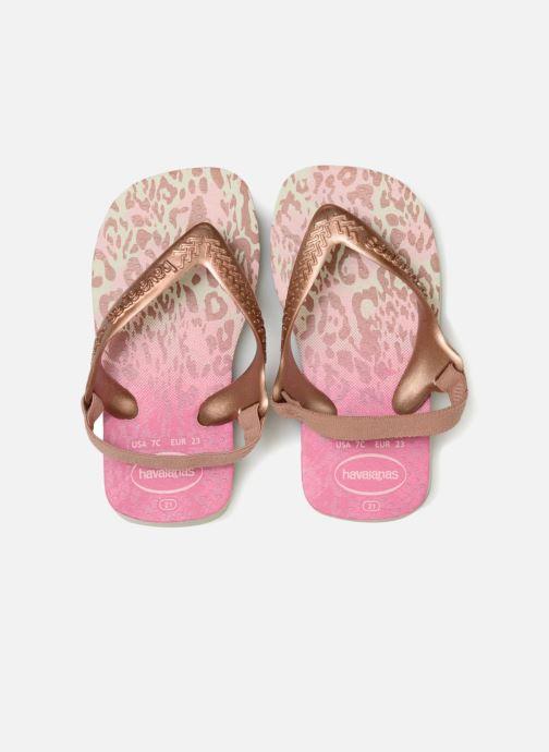 Sandales et nu-pieds Havaianas Baby Chic 2 Rose vue portées chaussures