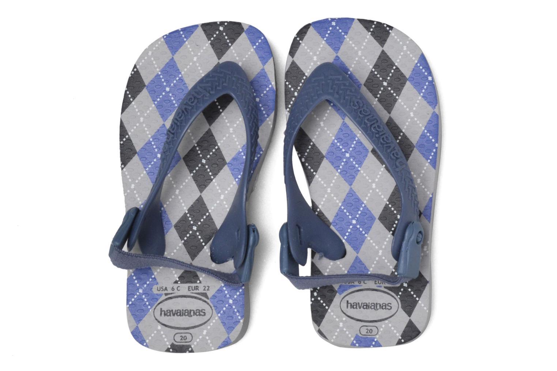 Sandales et nu-pieds Havaianas Baby Chic 2 Gris vue 3/4