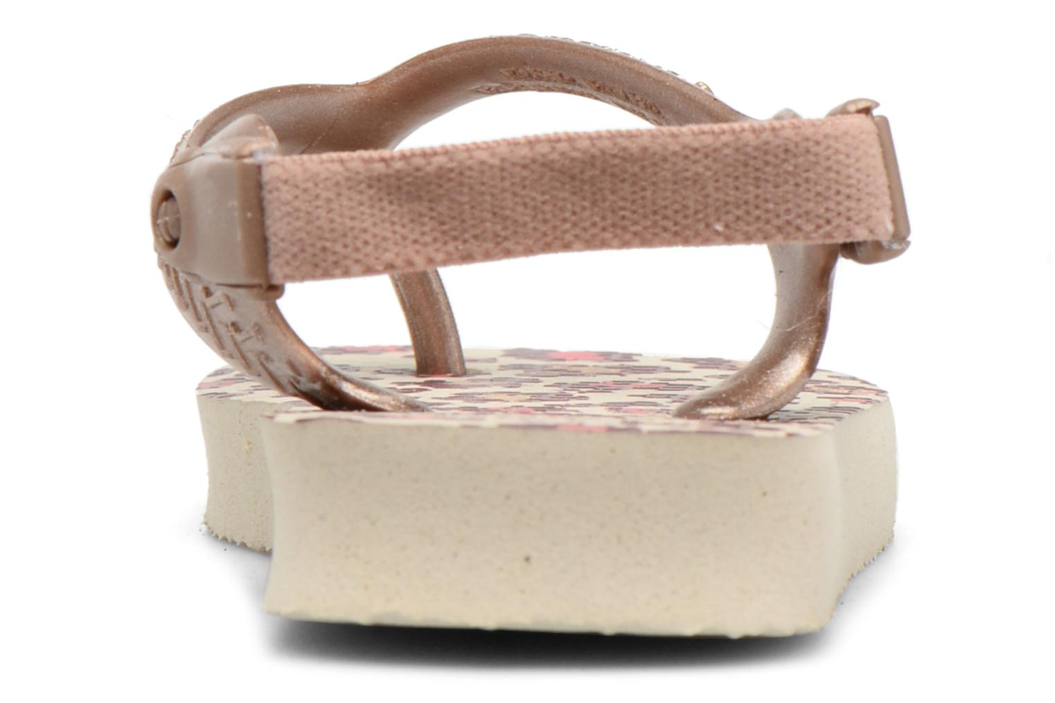 Sandals Havaianas Baby Chic 2 Beige view from the right