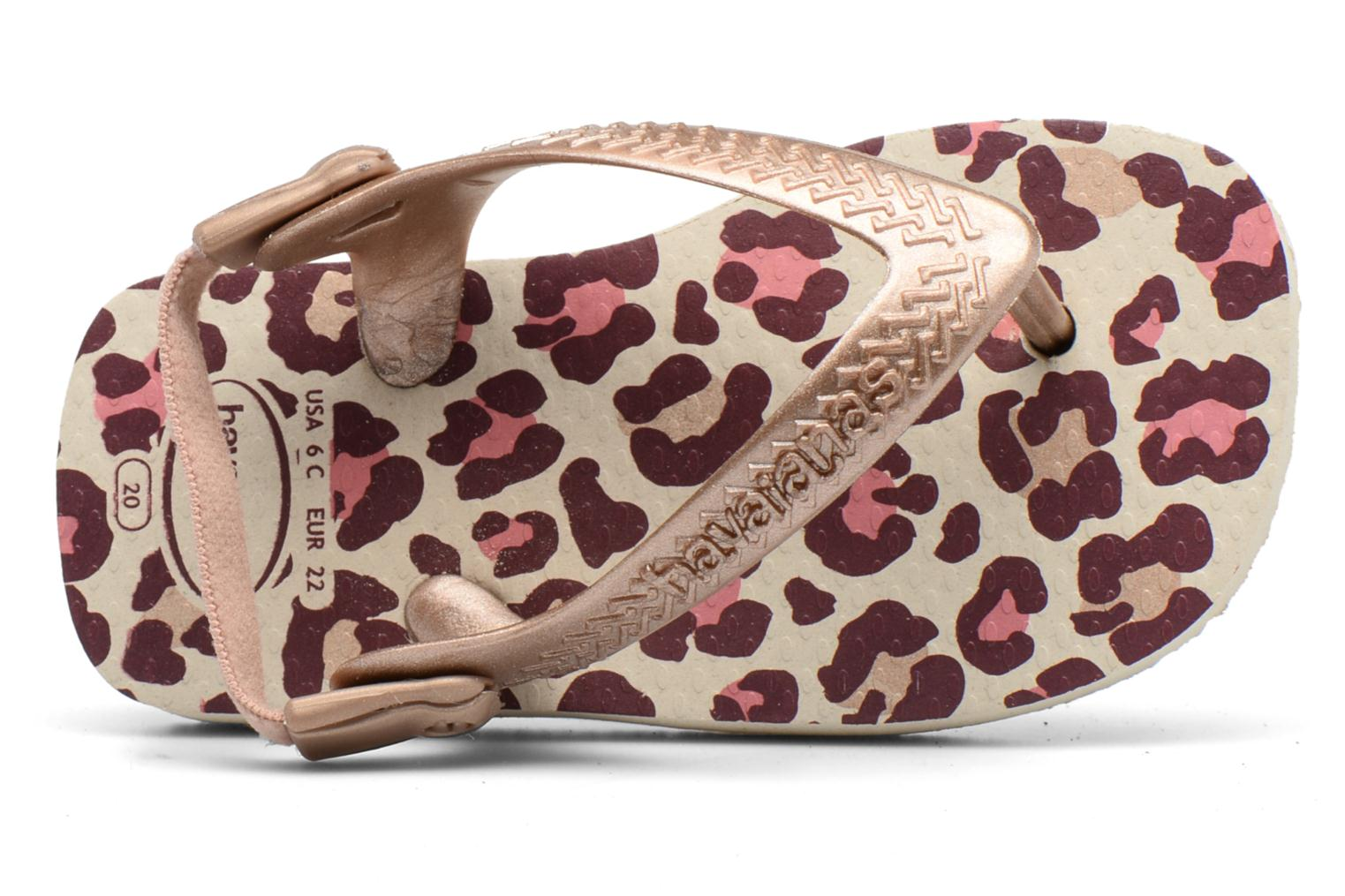 Sandals Havaianas Baby Chic 2 Beige view from the left
