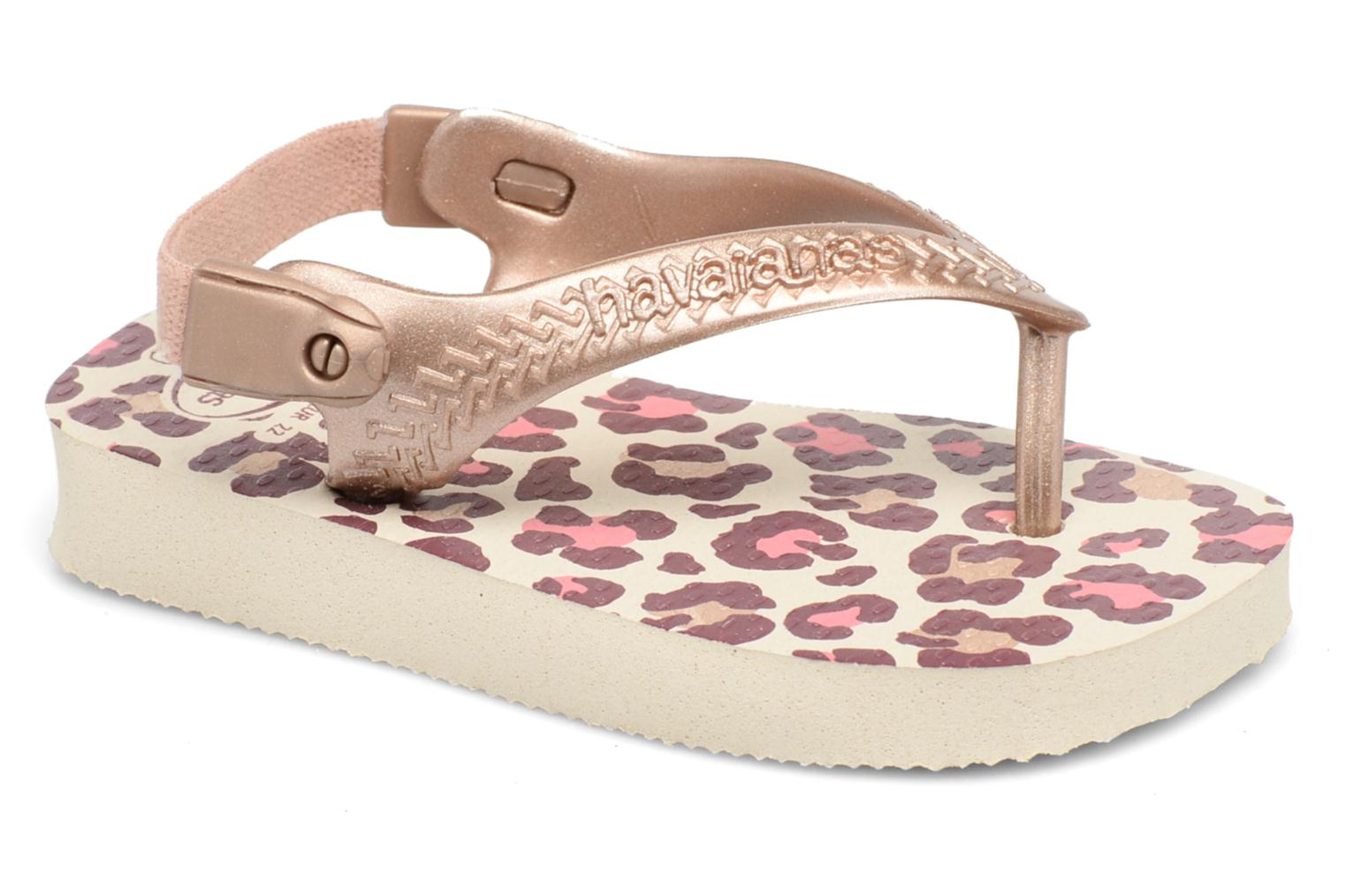 Sandals Havaianas Baby Chic 2 Beige detailed view/ Pair view