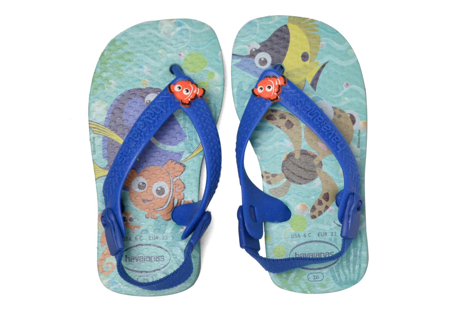 Sandals Havaianas Baby Disney Cuties Blue 3/4 view