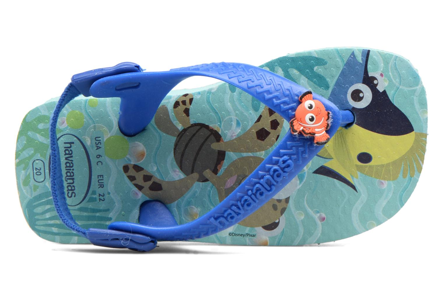 Sandals Havaianas Baby Disney Cuties Blue view from the left