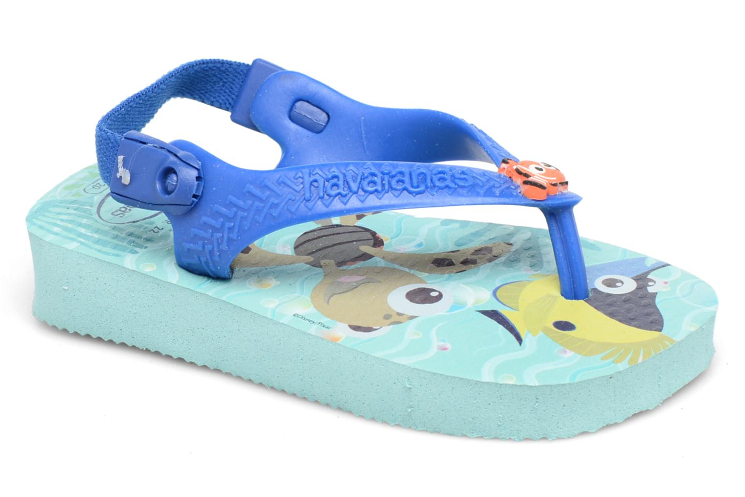 Sandals Havaianas Baby Disney Cuties Blue detailed view/ Pair view