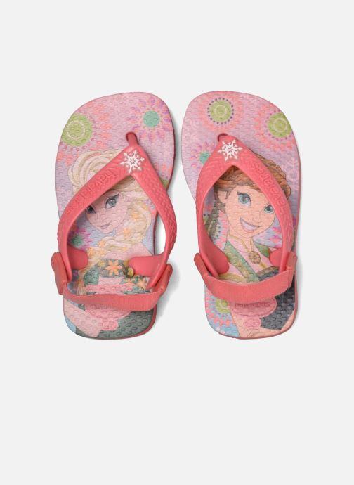 Sandales et nu-pieds Havaianas Baby Frozen Rose vue 3/4
